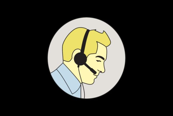 Male Customer Service Graphic Illustrations By artpray