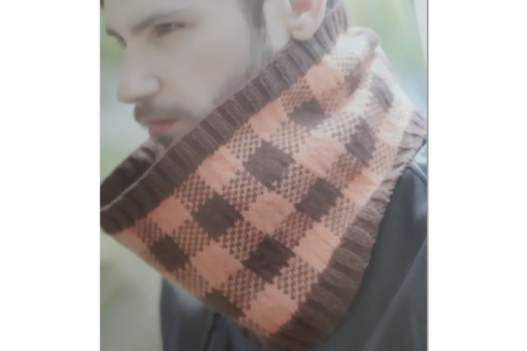 Mens Checker Cowl Pattern Graphic Knitting Patterns By wunderfulwool