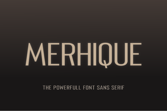 Print on Demand: Merhique Family Sans Serif Font By Shanaya Creative