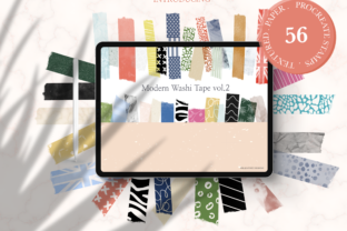 Modern Washi Tape Vol2 for Procreate Graphic Brushes By OkayAnnie Designs