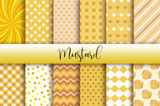 Print on Demand: Mustard Background Digital Papers Graphic Backgrounds By PinkPearly