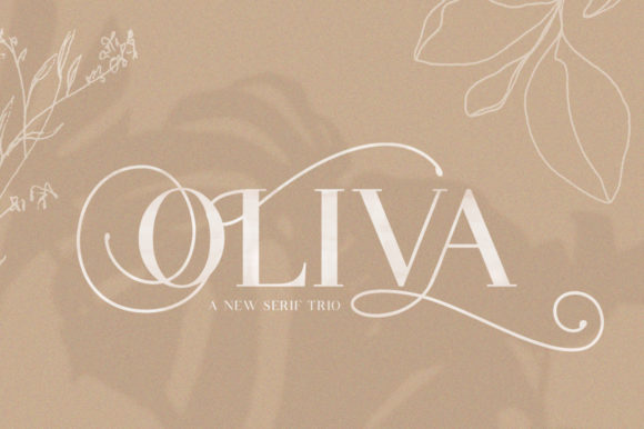 Print on Demand: Oliva Serif Font By Salt & Pepper Designs