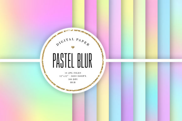 Print on Demand: Pastel Blurred Backgrounds, Unicorn Blur Gráfico Fondos Por Sabina Leja