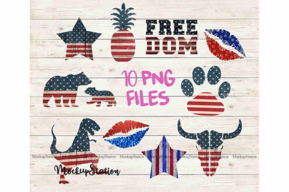 Download Free Patriotic Sublimation Design Bundle Graphic By Mockup Station for Cricut Explore, Silhouette and other cutting machines.