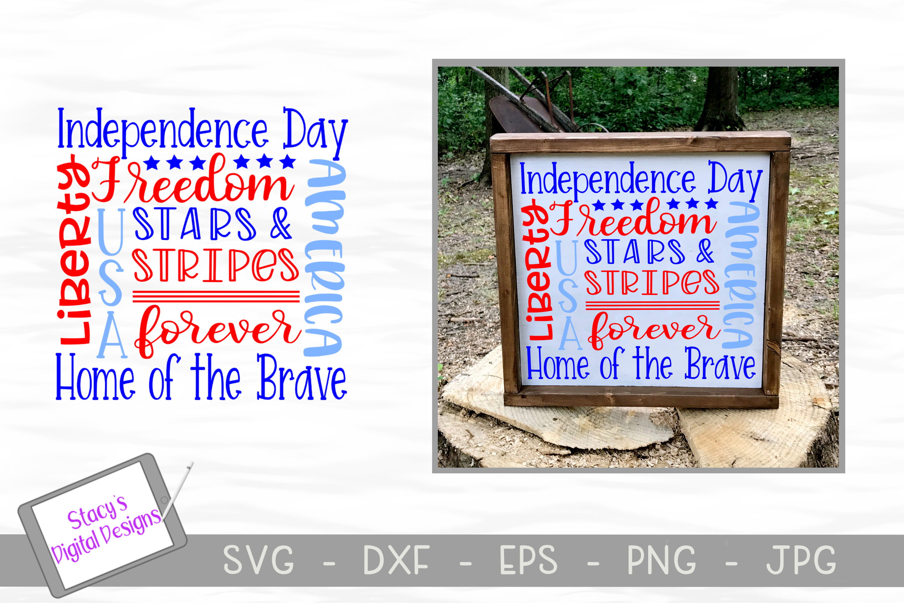 Download Free Patriotic Subway Art Svg Usa Graphic By Stacysdigitaldesigns for Cricut Explore, Silhouette and other cutting machines.