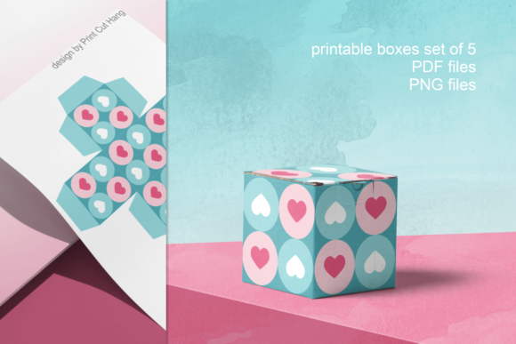 Download Free Printable Boxes For Valentine Gifts Graphic By Print Cut Hang for Cricut Explore, Silhouette and other cutting machines.
