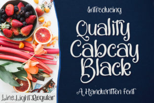 Print on Demand: Quality Capcay Display Font By Sulthan Studio