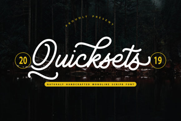 Print on Demand: QuickSets Script & Handwritten Font By Vunira