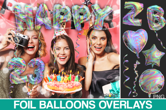 Download Free Rainbow Balloons Overlay Photoshop Graphic By 2suns Creative for Cricut Explore, Silhouette and other cutting machines.