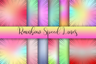 Rainbow Speed Lines Background Graphic Backgrounds By PinkPearly