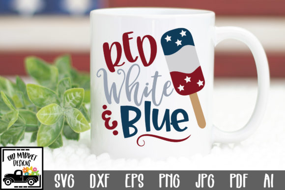 Print on Demand: Red White & Blue Graphic Crafts By oldmarketdesigns