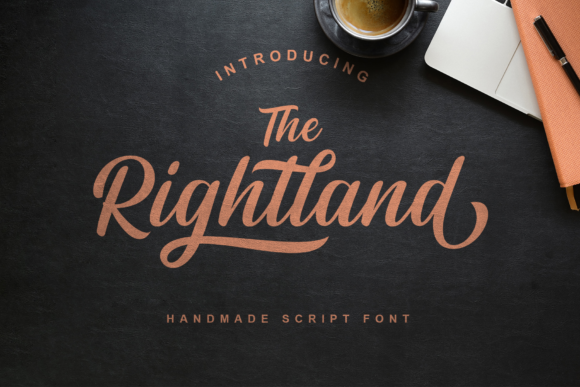 Print on Demand: Rightland Manuscrita Fuente Por MJB Letters