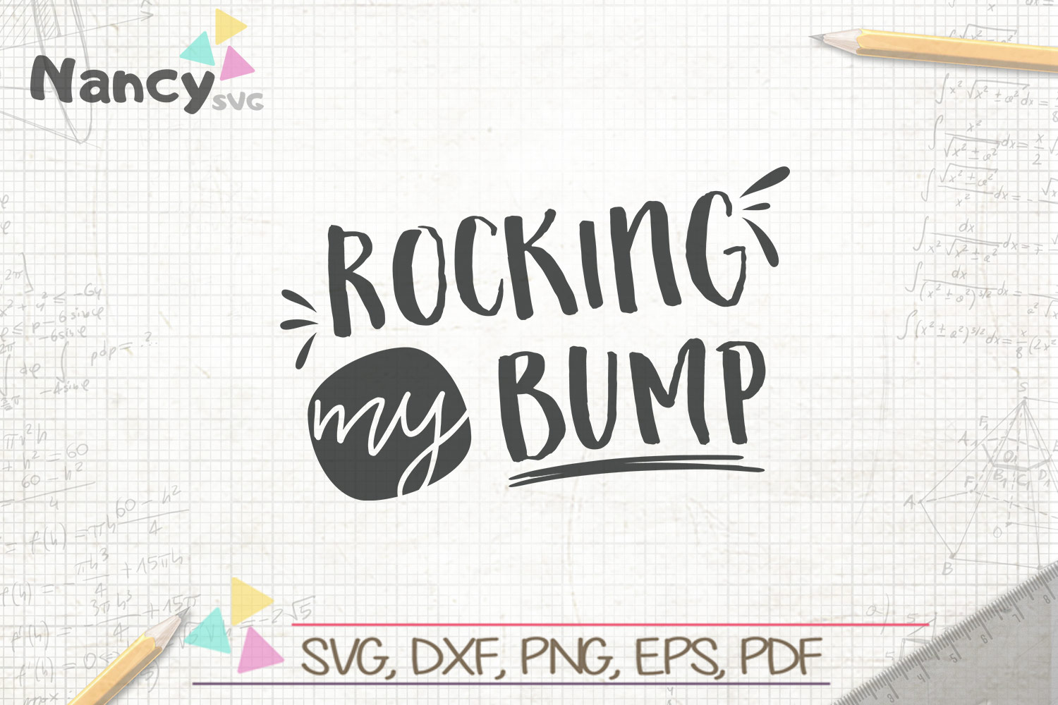 Download Free Rocking My Bump Graphic By Uramina Creative Fabrica for Cricut Explore, Silhouette and other cutting machines.