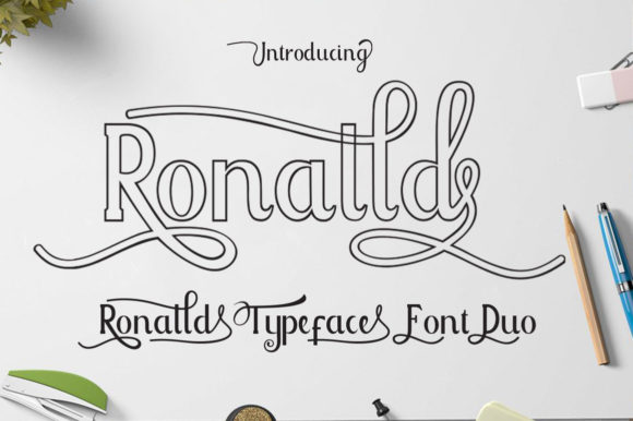 Print on Demand: Ronalld Script & Handwritten Font By AzzamStudio