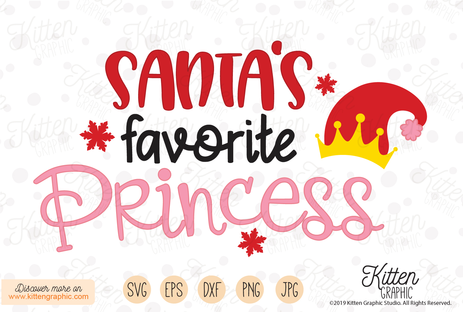 Santa S Favorite Princess Graphic By Kittengraphicstudio