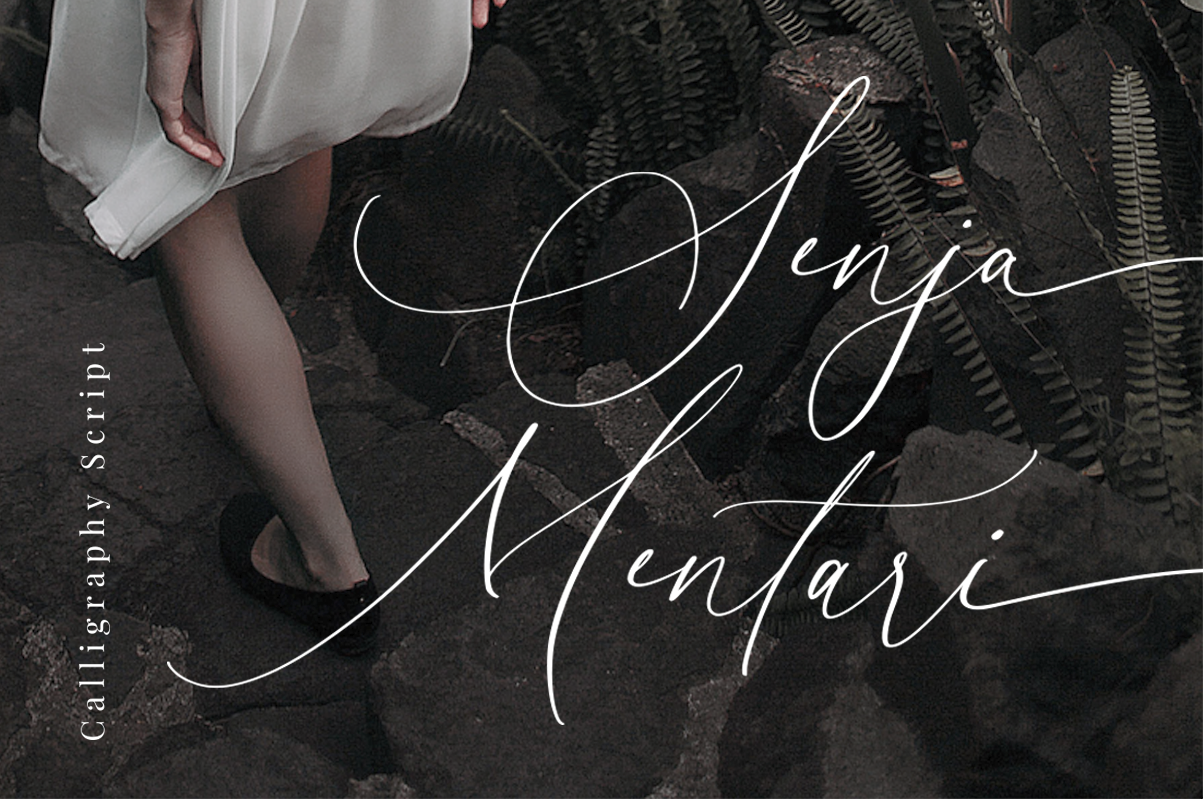 Download Free Senja Mentari Font By Dharmas Creative Fabrica for Cricut Explore, Silhouette and other cutting machines.