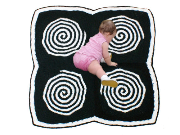 Sensory Spiral Blanket Crochet Pattern Graphic Item