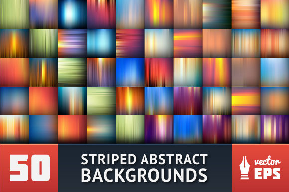 Set of Striped Abstract Backgrounds Graphic Backgrounds By Mastak_A
