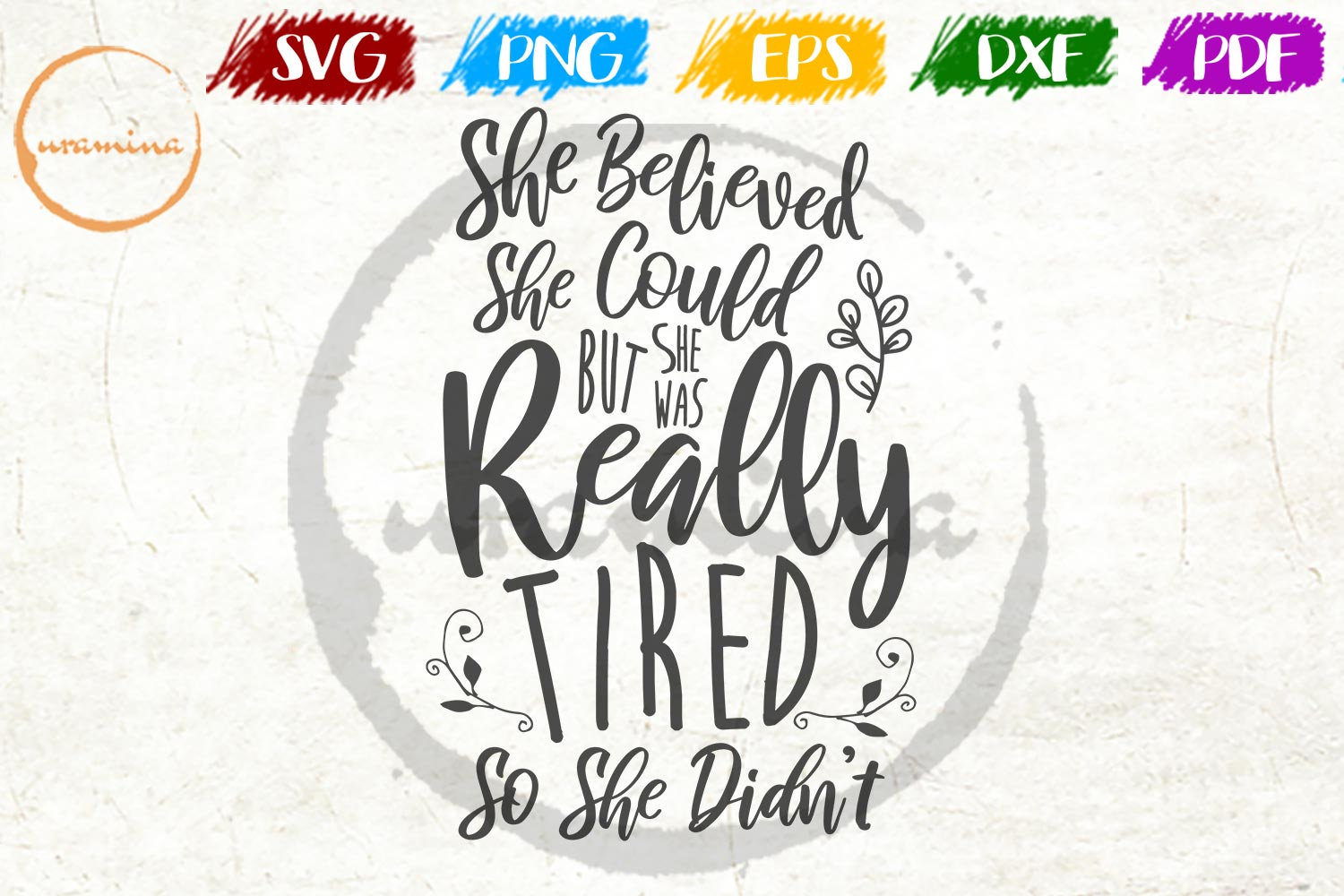 Download Free She Believed She Could Graphic By Uramina Creative Fabrica for Cricut Explore, Silhouette and other cutting machines.