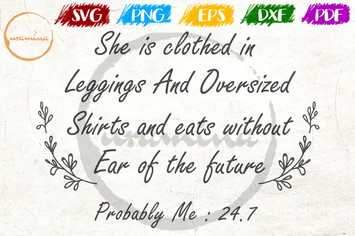 She Is Clothed In Leggings And Oversized Graphic By Uramina
