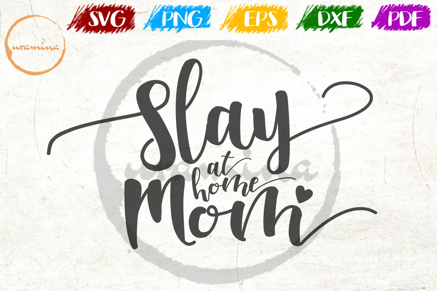 Download Free Slay At Home Mom Graphic By Uramina Creative Fabrica for Cricut Explore, Silhouette and other cutting machines.