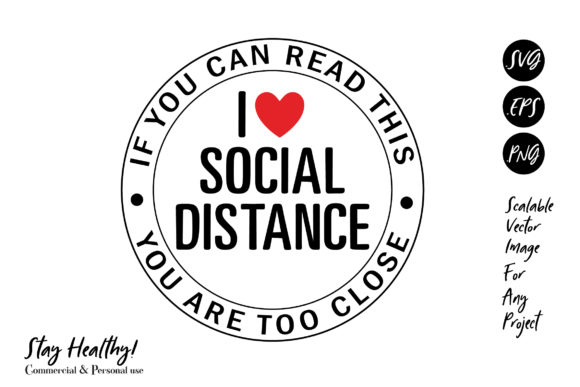 Print on Demand: Social Distance, Sublimation Graphic Illustrations By adlydigital