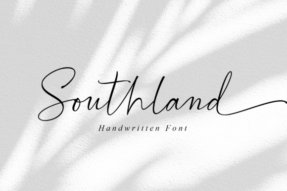 Print on Demand: Southland Manuscrita Fuente Por MJB Letters