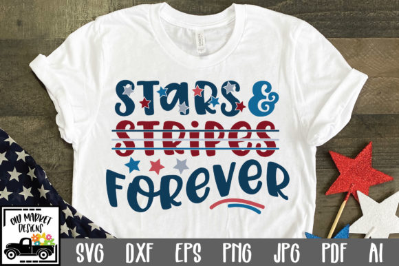 Stars and Stripes Forever Graphic Crafts By oldmarketdesigns