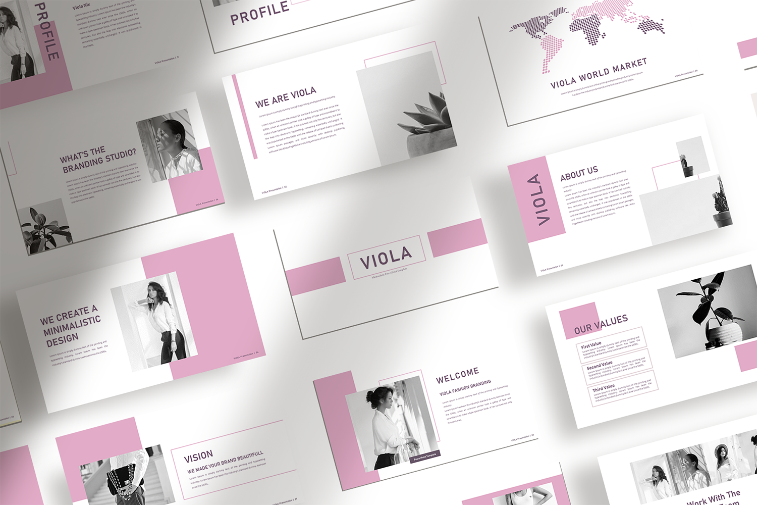 Download Free Viola Presentation Template Graphic By Ovoz Graphics for Cricut Explore, Silhouette and other cutting machines.