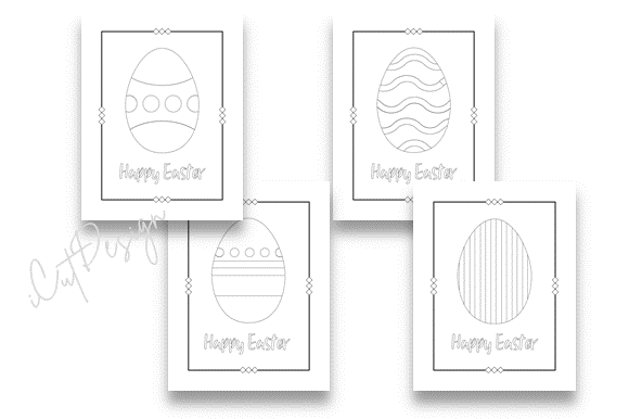Print on Demand: 12 Easter Egg Coloring Pages Graphic Coloring Pages & Books Adults By icutletterstudio - Image 2