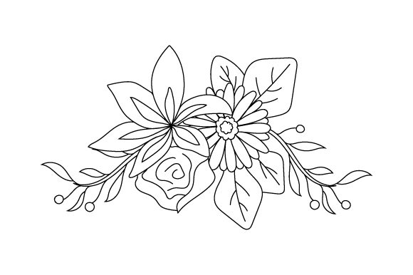 Flowers - Coloring Book Design Kids Craft Cut File By Creative Fabrica Crafts - Image 1
