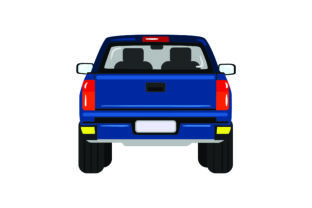 Back of Pickup Truck Cars Craft Cut File By Creative Fabrica Crafts