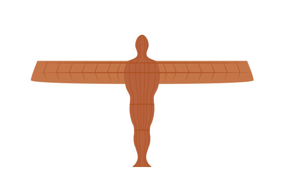 Angel of the North UK Designs Craft Cut File By Creative Fabrica Crafts