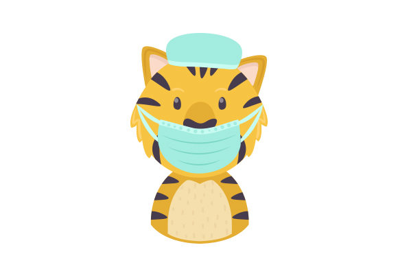 Tiger Doctor Animals Craft Cut File By Creative Fabrica Crafts