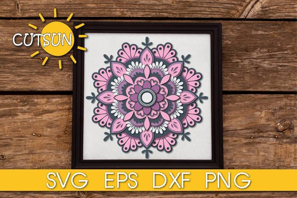 Download Free 3d Layered Mandala 5 Layers Graphic By Cutsunsvg Creative Fabrica SVG Cut Files