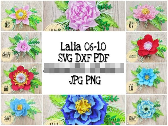Download Free Lalia 06 10 Giant Paper Flower Template Graphic By Lasquare for Cricut Explore, Silhouette and other cutting machines.