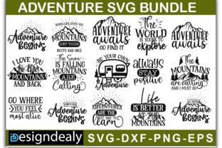 Print on Demand: Adventure Quotes Bundle Graphic Print Templates By Designdealy