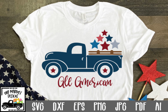 Print on Demand: All American Graphic Crafts By oldmarketdesigns