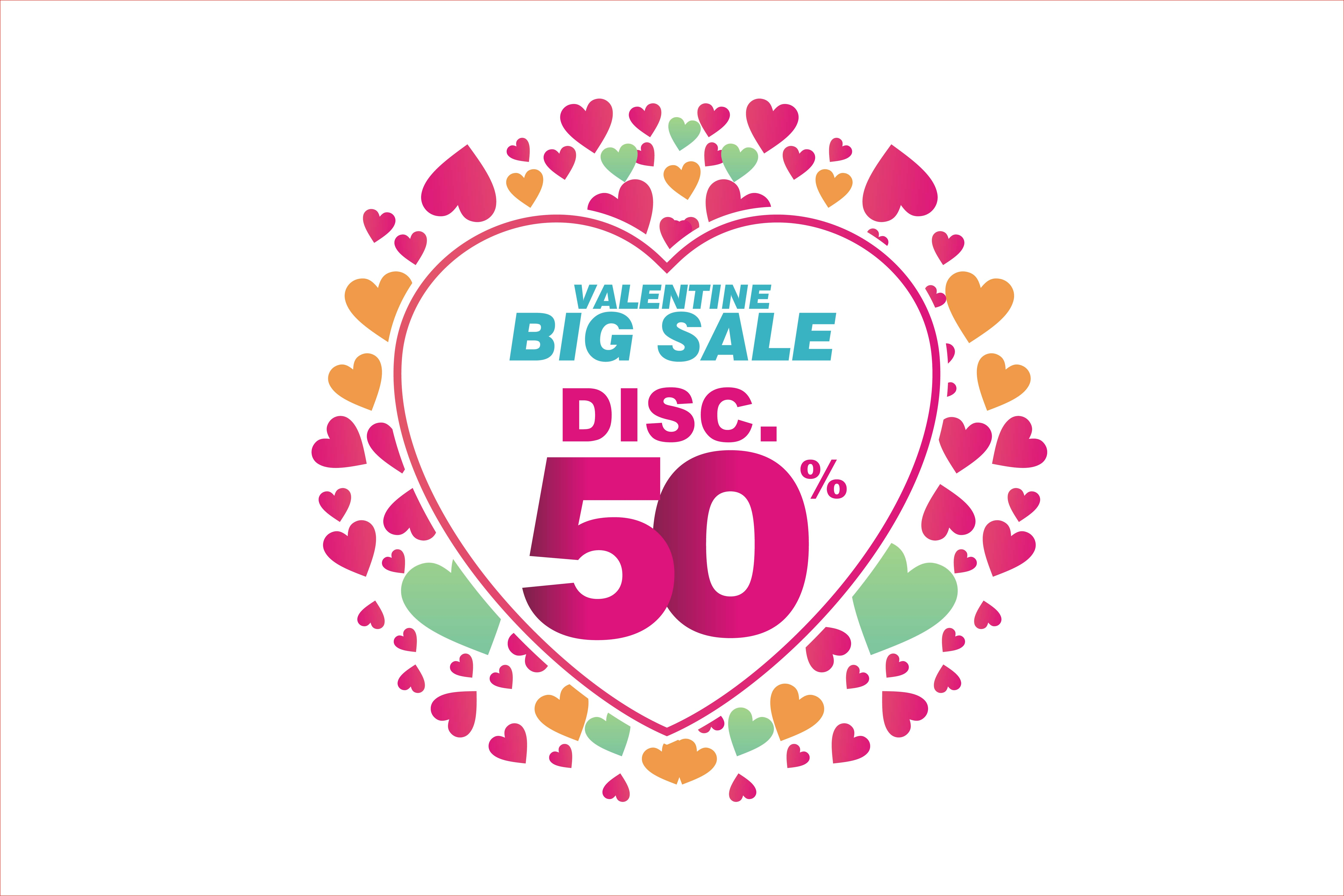 Download Free Badge Of Valentine Sale Discount Graphic By Edywiyonopp for Cricut Explore, Silhouette and other cutting machines.