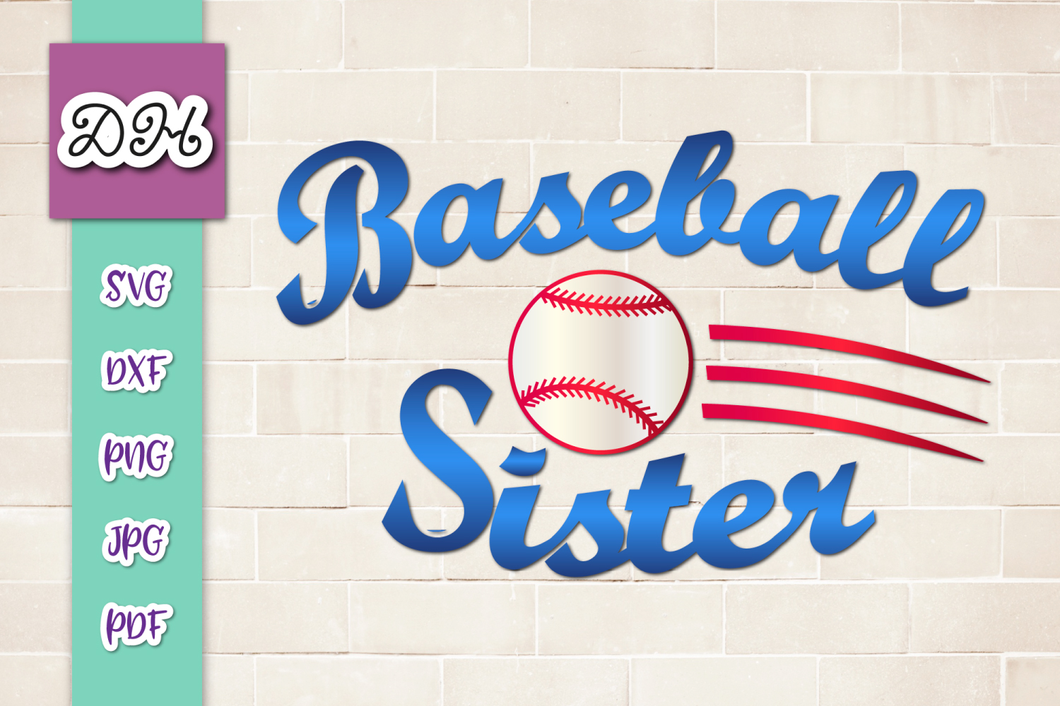 Download Free Baseball Sister Player Family Sublimatio Grafico Por Digitals By for Cricut Explore, Silhouette and other cutting machines.