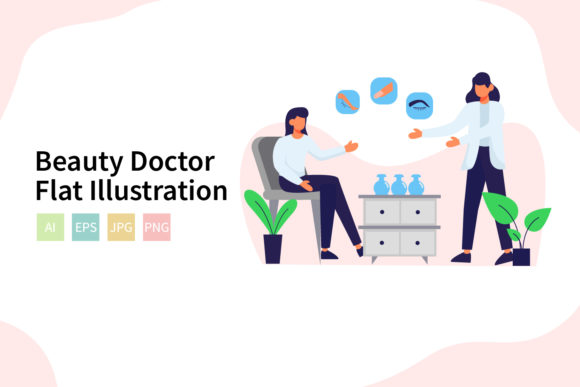 Download Free Beauty Doctor Vector Illustration Graphic By Sixtwenty Studio for Cricut Explore, Silhouette and other cutting machines.