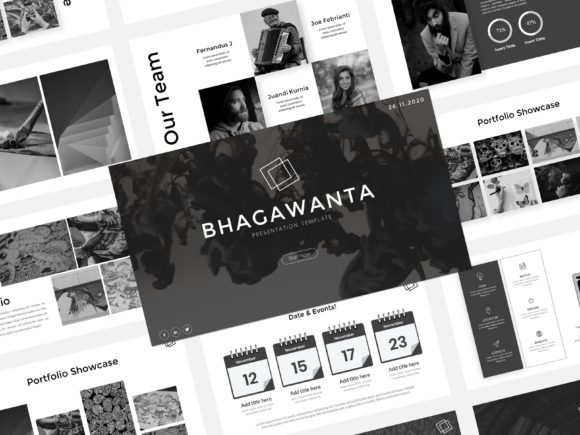 Download Free Bhagawanta Presentation Template Graphic By Listulabs for Cricut Explore, Silhouette and other cutting machines.