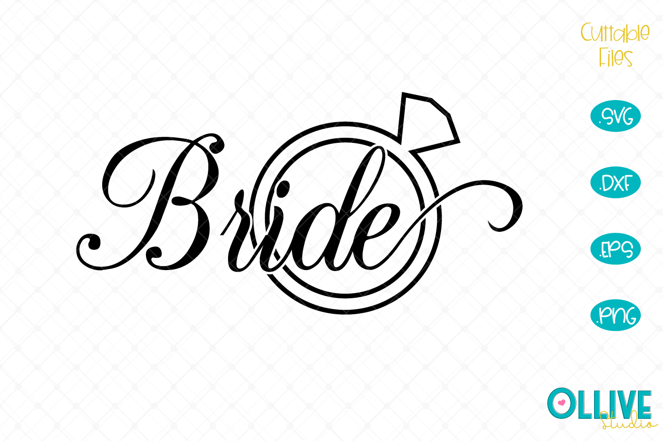 Download Free Bride Wedding Party Graphic By Ollivestudio Creative Fabrica for Cricut Explore, Silhouette and other cutting machines.