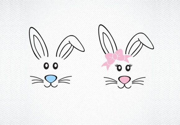 Download Free Bunny Easter Graphic By Svg Den Creative Fabrica for Cricut Explore, Silhouette and other cutting machines.