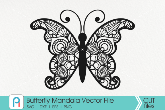Download Free Butterfly Mandala Graphic By Pinoyartkreatib Creative Fabrica for Cricut Explore, Silhouette and other cutting machines.