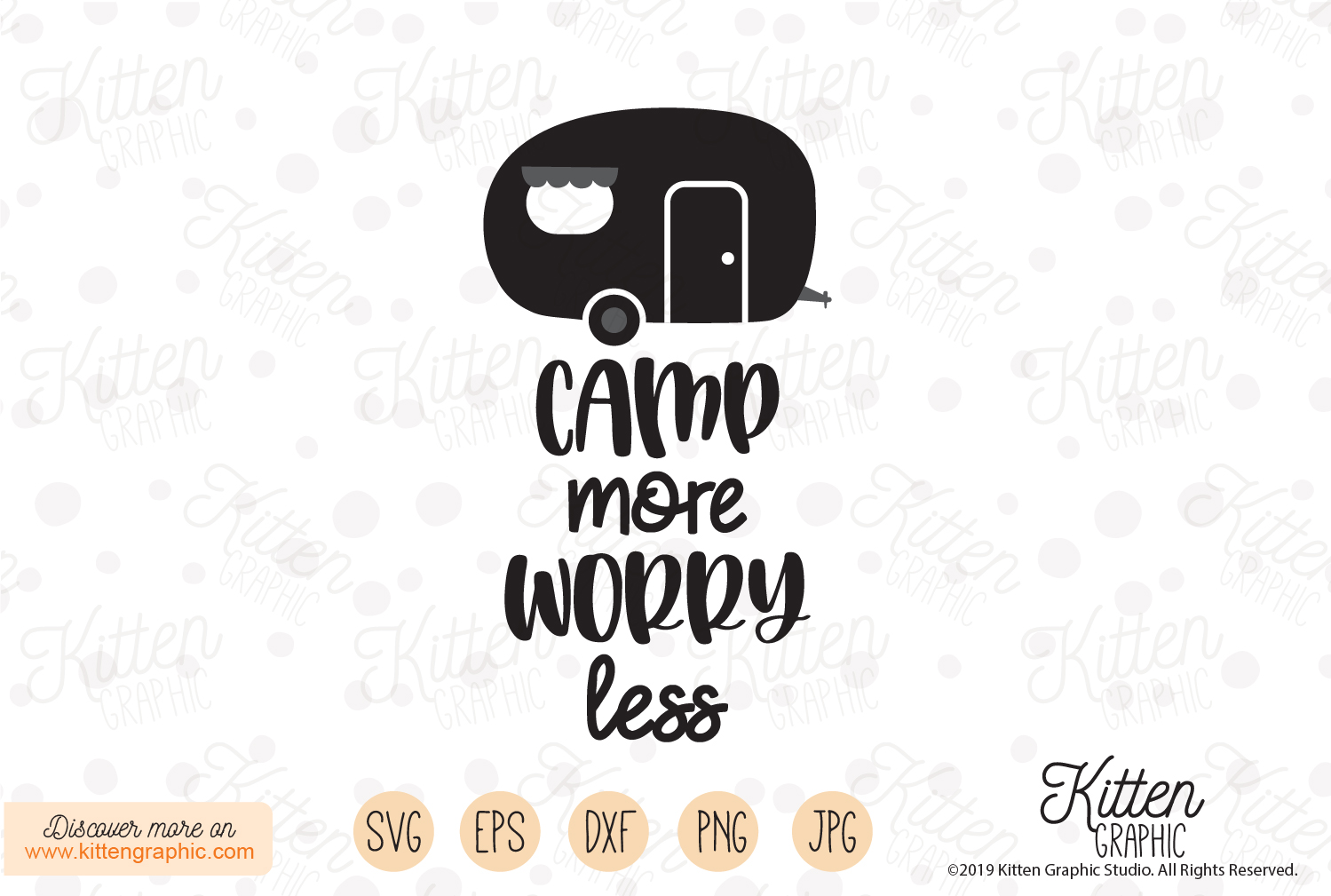 Download Free Camp More Worry Less Graphic By Kittengraphicstudio Creative for Cricut Explore, Silhouette and other cutting machines.