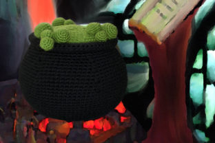 Cauldron Crochet Pattern Graphic Crochet Patterns By Knit and Crochet Ever After