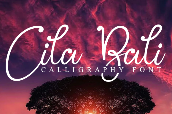 Print on Demand: Cila Bali Display Font By andikastudio