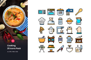 Cooking Icons Pack Graphic Icons By StringLabs