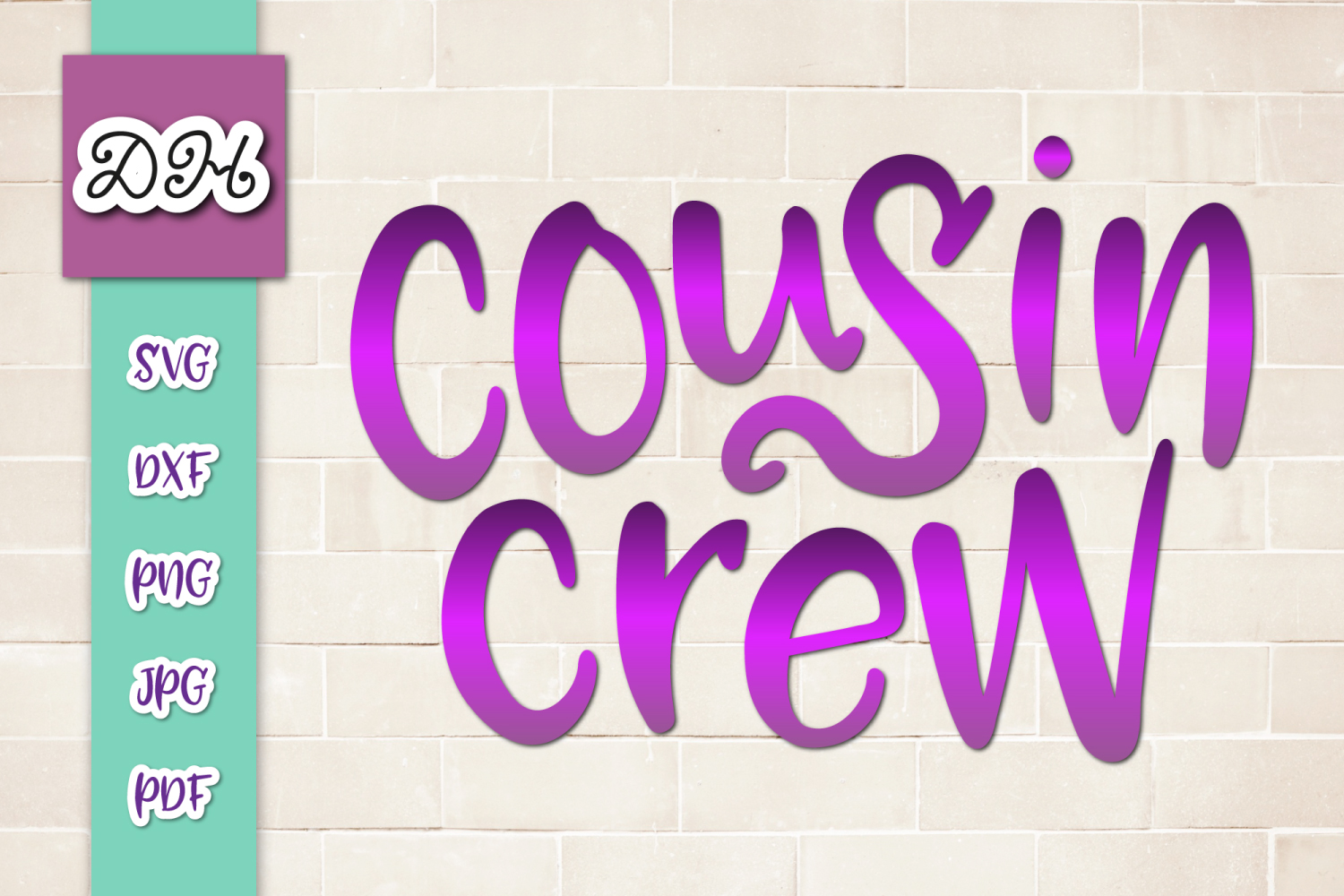 Download Free Cousin Crew Funny Family Sublimation Graphic By Digitals By SVG Cut Files